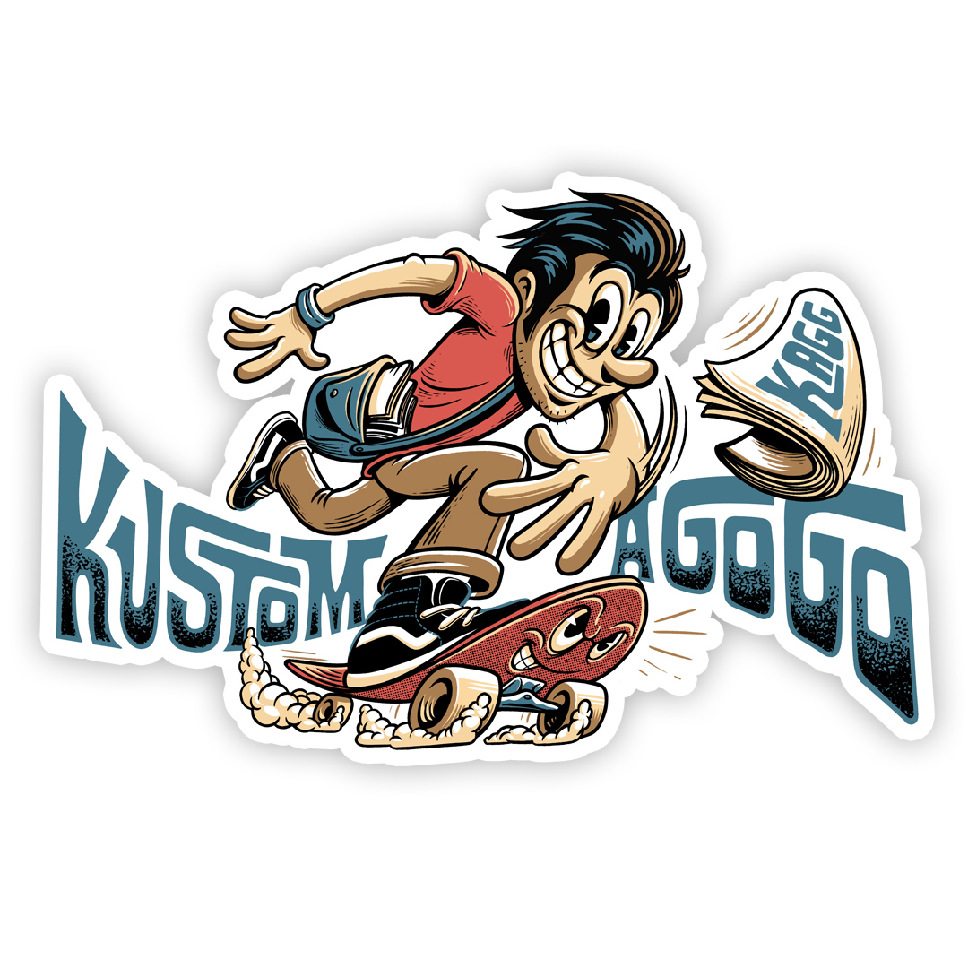 Kustom A Go Go sticker